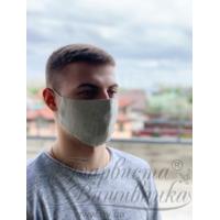 Маска для обличчя захисна багаторазова Барвиста Вишиванка, 100% льон , L (24х13х7 см) МА004лГ2403_039
