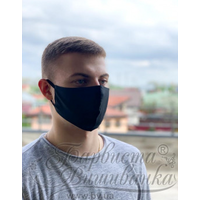 Маска для обличчя захисна багаторазова Барвиста Вишиванка, Батист (80% бавовна, 15% поліестер, 5% еластан) , L (24х13х7 см) МА003хЧ2402