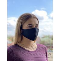 Маска для обличчя захисна багаторазова Барвиста Вишиванка, Батист (80% бавовна, 15% поліестер, 5% еластан) , M (23х11х6 см) МА003хЧ2302
