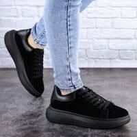 Кроссовки женские черные Alenie 2101 (40 размер)