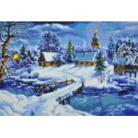 Картина вишита бісером Барвиста Вишиванка Казкова зима