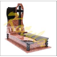 Модель одинарного памятника с крестом №19
