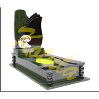 Модель одинарного памятника с волнами №20