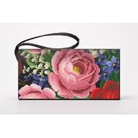 Набор для вишивки нитками Барвиста Вишиванка заготівлі зшитого клатча Розкішні троянди, фіалки, конвалії (КЛ173шЧ1301i)