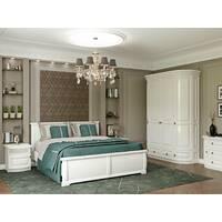 Белый спальный гарнитур Омега из дерева