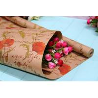 Двухсторонняя крафт бумага для цветов и подарков 70см*10м