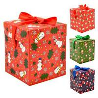Коробка подарочная новогодняя 22*22*22см