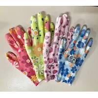 Жіночі робочі рукавички N-629 з гумою на долоньці
