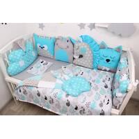 Комплект в ліжечко з іграшками у блакитному кольорі