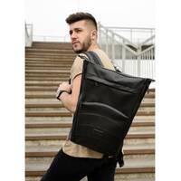 Рюкзак ролл Sambag RollTop MQN Черный с битым сереблом