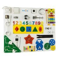 Бизиборд BrainUp Smart Busy Board настольная развивающая игра доска из 25 деталей M 50 * 60 см 6004_3)