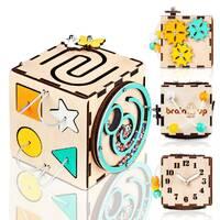 Бизикуб BrainUp Smart Busy Cube настольная развивающая игра кубик с 6 деталей 10 * 10 см (6007_2)