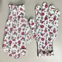 Тонкі літні робочі жіночі рукавички N-10A, з точкою