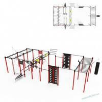 Гімнастичний комплекс S - 60 боксерською грушею і шведськими стінками
