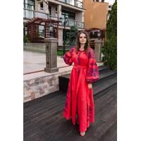 Зшита жіноча сукня - вишиванка (Ukrainian boho) для вишивки нитками Святкова (ПЕ008лП4203_022_116)