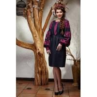 Зшита жіноча туніка - вишиванка (Ukrainian boho) для вишивки нитками Мрія (ТЕ002лУ5401_217_019)