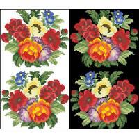 Схема для вишивки бісером на водорозчинному клейовому флізеліні Барвиста Вишиванка Канва з нанесеним малюнком 20х30 (ФЛ059гн2030)