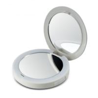 Компактное зеркало Pretty&Powerful с функцией Powerbank. Обычное и 2-кратное увеличение, LED-подсветка, USB-кабель для зарядки зеркала, USB-зарядка для смартфона Homedisk