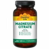 Цитрат магния 250 мг 120 таблеток Country Life