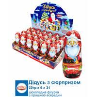 *NEW_YEAR 2020рік Aras Шоколадная фигурка Дед Мороз 30г*24