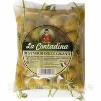 Оливки зелены без косточки 500г La Contadina М/В (1/10)