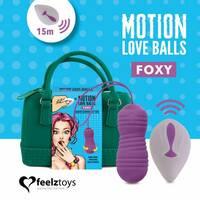 Вагінальні кульки з перлинним масажем FeelzToys Motion Love Balls Foxy з пультом ДУ, 7 режимів