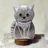 """Соляная лампа """"Кот с воротничком"""" 2D 2,5-3,0 кг SALIERY"""
