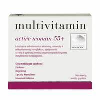 Мультивитамины для женщин Multivitamin active women 55+, 90 т.New Nordic