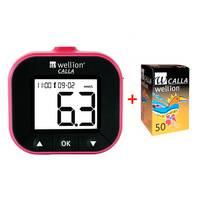 Акційний набір Глюкометр WELLION Calla Light blackberry   тест-полоски 50 шт