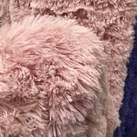 """Хутряне ковдра-покривало травичка (ведмедик) з наполнителем""""Розовый"""""""