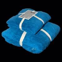 """Подарунковий набір з двох махрових рушників (банячи і особу) """"Блакитний"""""""