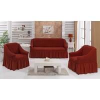 "Чехол на диван+2 кресла (Макси размер) ТМ"" Kayra"".Турция. -ореховый"