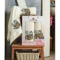 """Набір турецьких рушників Merzuka Cotton Butterfly 2-ка""""молочный"""""""