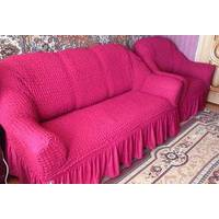 "Чехол на диван+2 кресла (Макси размер) ТМ"" Kayra"".Турция. -розовый"