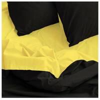 """Сімейний комплект постільної білизни з бязи голд"""" однотонний чорний жовтий"""""""