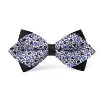 STK Галстук-бабочка синий с орнаментом