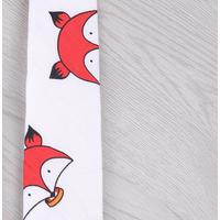"""STK Галстук с принтом белый галстук """"красный лис"""""""