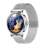 Умные смарт часы Lemfo CF18 Pro Metal с измерением давления и пульса (Серебристый)