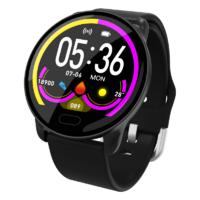 Умные часы фитнес браслет Lemfo K9 с измерением сердечного ритма и давления (Черный)