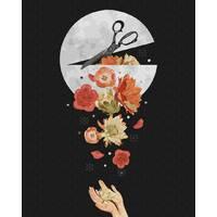 STK Картина по номерам. Цветы в луне, 40*50 см, Brushme без коробки+лак