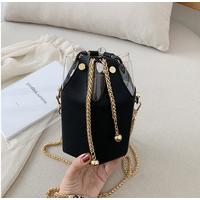 STK Черная сумка маленькая шестиугольная
