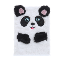 STK Пухнастий блокнот Панда білий, А5