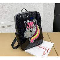 STK рюкзак Голограми з однорогом чорний