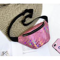 STK Поясная сумка розовая с декором