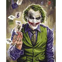 STK Картина по номерам Джокер, цветной холст, 40*50 см, без коробки Barvi