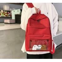 STK Рюкзак с принтом Панды бордовый