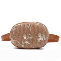 STK Плетеная сумочка на пояс коричневая