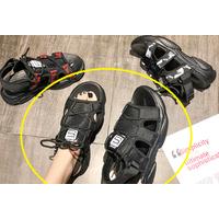 STK Женские босоножки черные на платформе,36 р