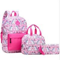 STK Рюкзак рожевий Однороги рюкзак 3в1