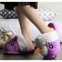 STK Тапочки-іграшки Однороги універсальний 36-40, фіолетовий